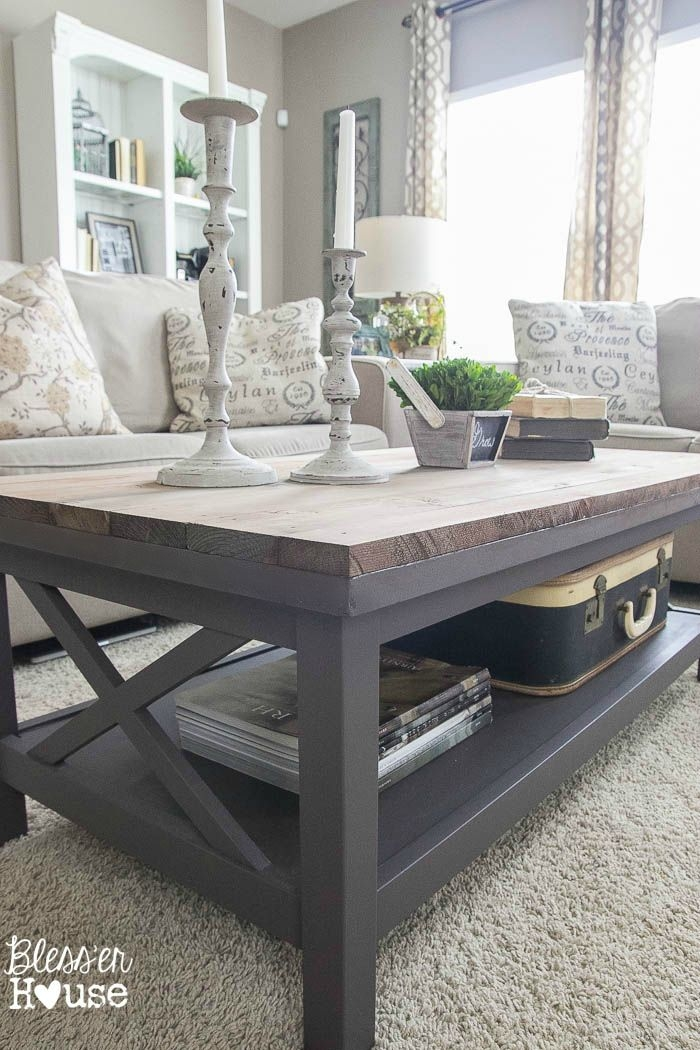 Fantastic Best Grey Coffee Tables Throughout Best 20 Coffee Table Makeover Ideas On Pinterest Ottoman Ideas (View 10 of 50)