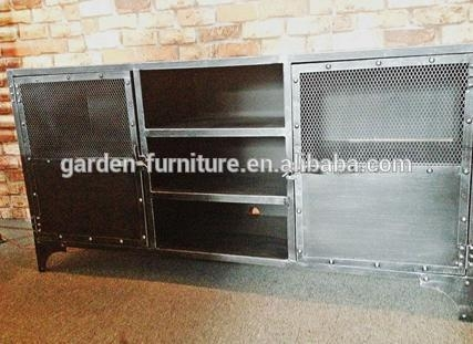 Fantastic Best Industrial TV Cabinets For Vintage Metal Home Furniture For Living Roomindustrial Wrought (Image 9 of 50)