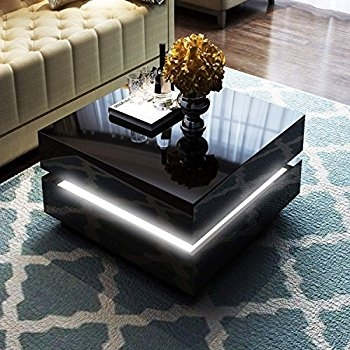 Fantastic Best Led Coffee Tables With Modern 3d Led Illuminated Infinity Vanity Mirror Coffee Table (Image 19 of 50)