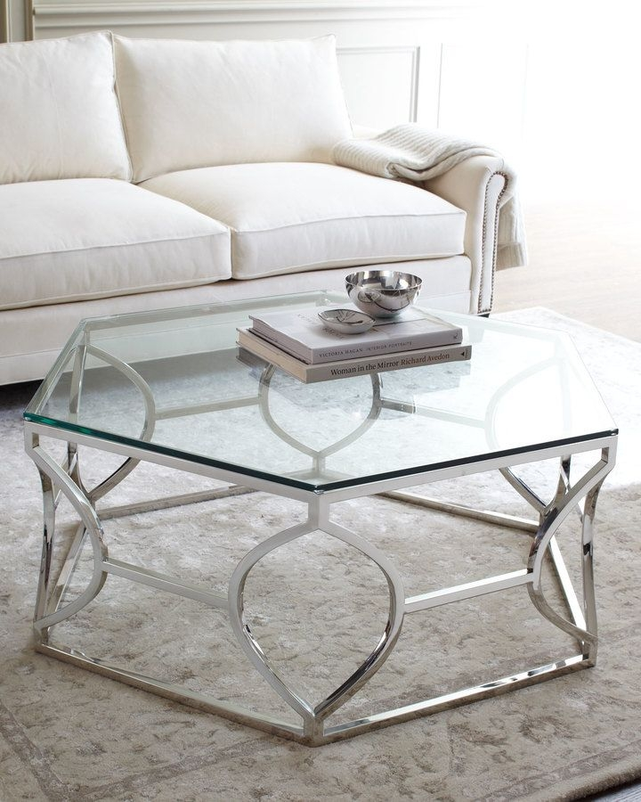 Fantastic Best Metal Glass Coffee Tables Within Best 25 Silver Coffee Table Ideas Only On Pinterest Gold Glass (Image 12 of 40)