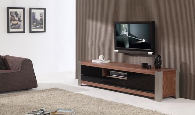 Fantastic Best Modern Walnut TV Stands Regarding B Modern Coordinator Light Walnut Veneer Tv Stand (View 29 of 50)