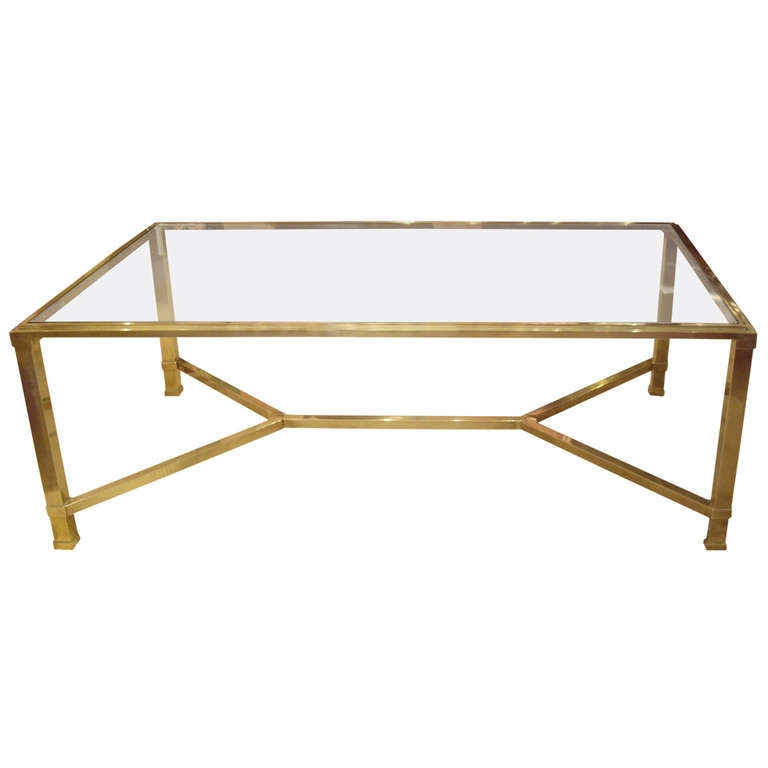 Fantastic Best Vintage Glass Coffee Tables With Regard To Coffee Table Beautiful Modern Brass Coffee Table Ideas Gold Glass (Image 18 of 50)