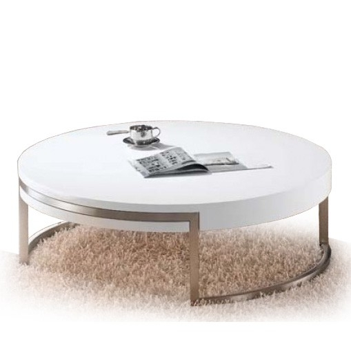 Fantastic Best White Circle Coffee Tables With Round Modern Coffee Table (Image 14 of 50)