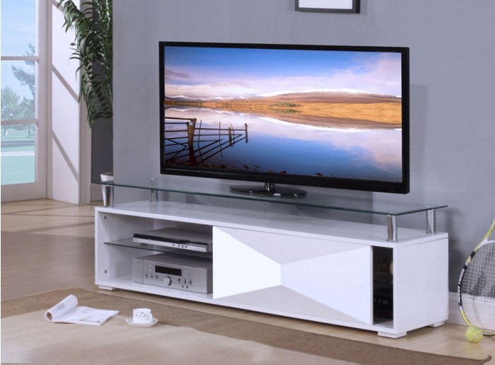 Fantastic Best White Glass TV Stands Pertaining To Tv Stands Glamorous High Gloss Tv Stand 2017 Design High Gloss (Image 24 of 50)
