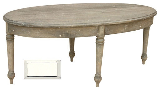 Fantastic Best White Oval Coffee Tables Regarding French Country Oval Coffee Table Farmhouse Coffee Tables (View 28 of 50)