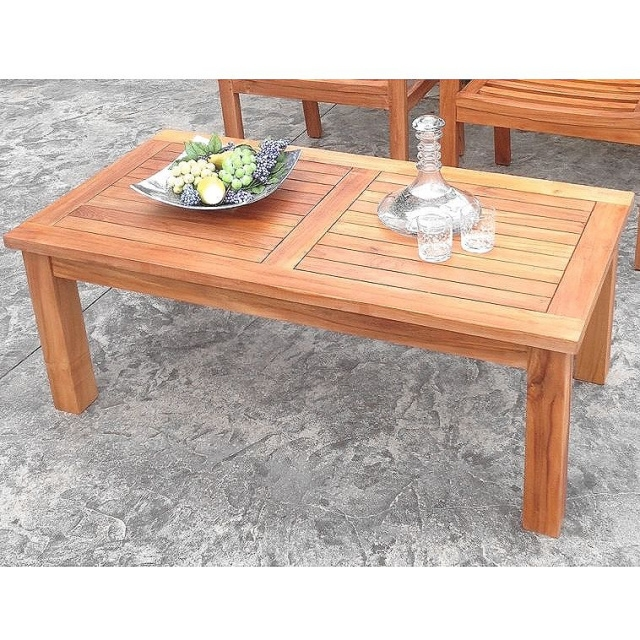 Fantastic Best Wooden Garden Coffee Tables Inside Tables Teak Patio Furniture Teak Outdoor Furniture (View 43 of 50)