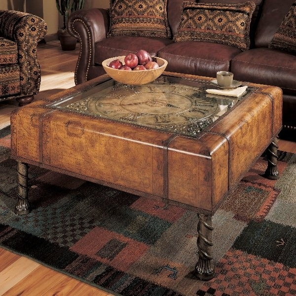 Fantastic Brand New Clock Coffee Tables Round Shaped Pertaining To Table Clock Coffee Table Home Interior Design (Image 15 of 50)