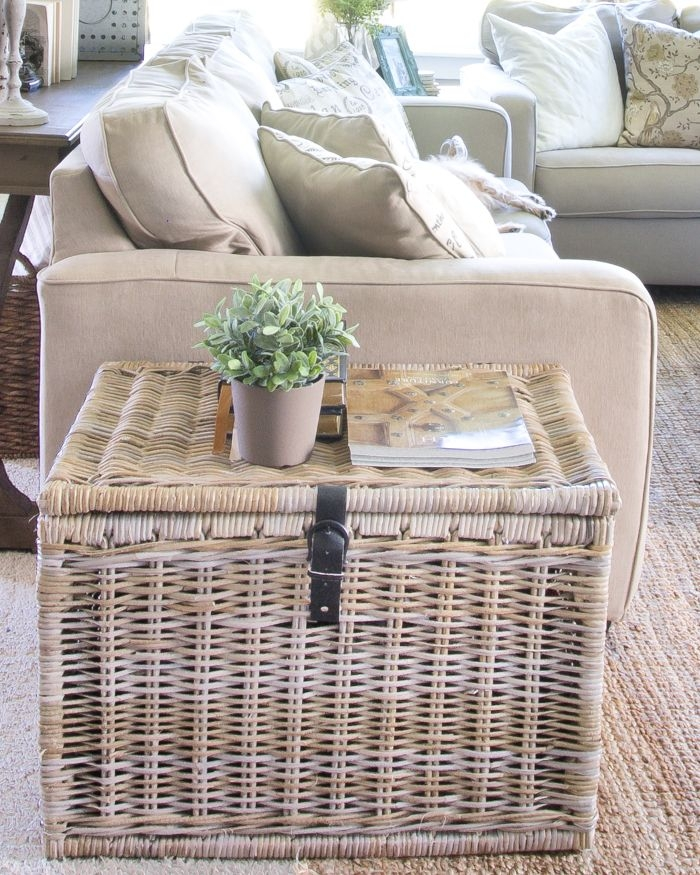 Fantastic Brand New Coffee Table With Wicker Basket Storage For Best 25 Blanket Basket Ideas On Pinterest Blanket Storage Cozy (Image 17 of 40)