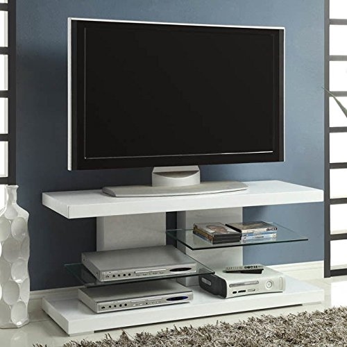 Fantastic Brand New Contemporary TV Stands For Flat Screens Inside White Tv Stands For Flat Screens Top 7 Most Popular White Tv (View 12 of 50)