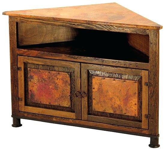 Fantastic Brand New Dark Wood Corner TV Cabinets Pertaining To Rustic Corner Tv Stand Effluvium (Image 16 of 50)