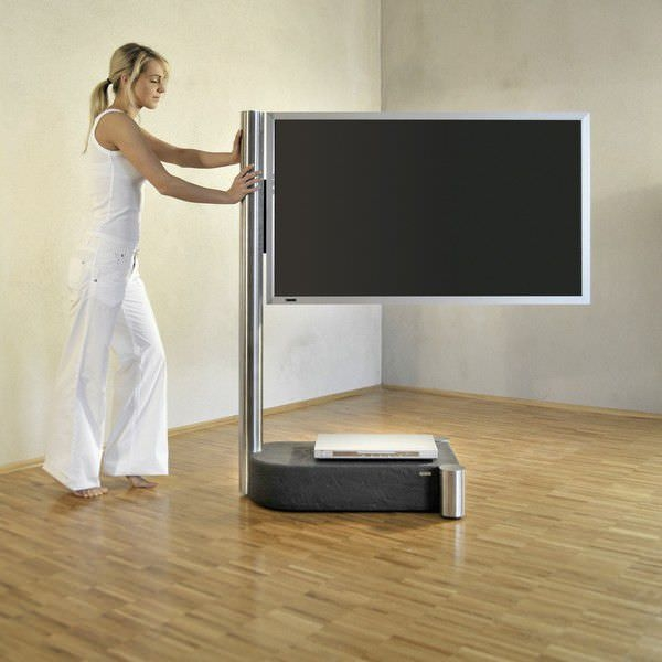 Fantastic Brand New Easel TV Stands For Flat Screens In Contemporary Tv Stand On Casters Fernsehstnder Art (View 41 of 50)