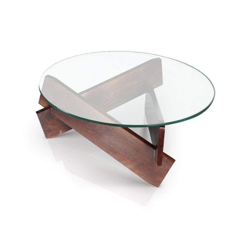 Fantastic Brand New Glass Circle Coffee Tables Within Glass Circle Coffee Table Metal Base Contemporary Round Metal (Image 14 of 50)