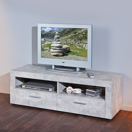 Fantastic Brand New Grey TV Stands Intended For Optra Wooden Tv Stand In White And Sonoma Oak  (Image 21 of 50)