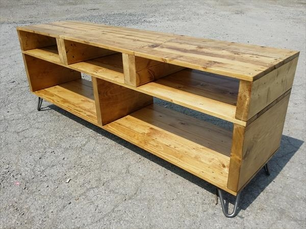 Fantastic Brand New Hairpin Leg TV Stands Intended For Diy Pallet Furniture Tv Stand With Hairpin Legs (Image 16 of 50)