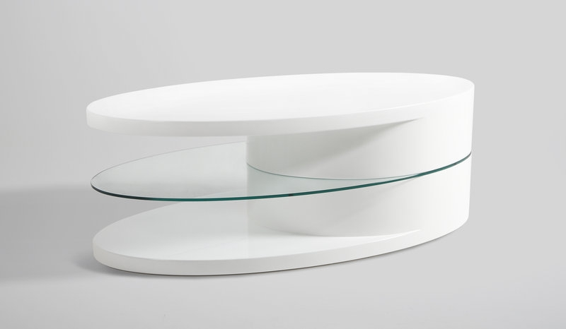 Fantastic Brand New High Gloss Coffee Tables Pertaining To Push White High Gloss Coffee Table With Glass Shelf Homestreet (Image 13 of 40)
