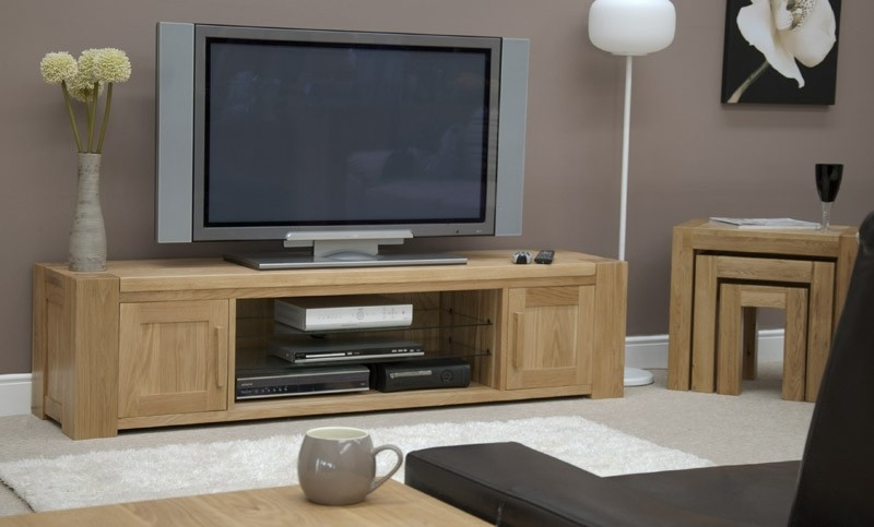 Fantastic Brand New Light Oak TV Stands Flat Screen With Regard To Tv Stands Glamorous Tv Stand Oak 2017 Design Tv Stand Oak Light (Image 17 of 50)