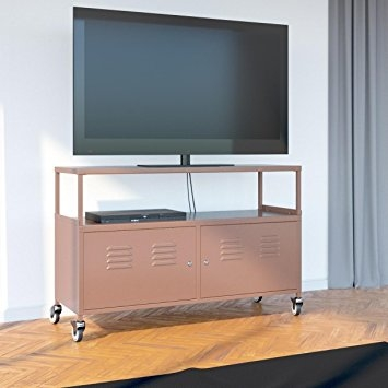 Fantastic Brand New Lockable TV Stands Within Amazon Tuscany Metal Lockable Tv Stand Cabinet Media Storage (Image 20 of 50)