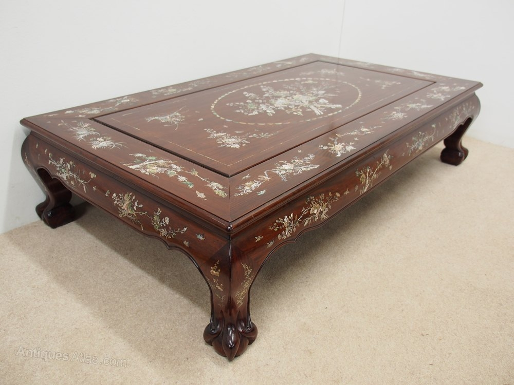Fantastic Brand New Mother Of Pearl Coffee Tables Pertaining To Chinese Rosewood And Mother Of Pearl Inlaid Coffee Table (Image 15 of 50)