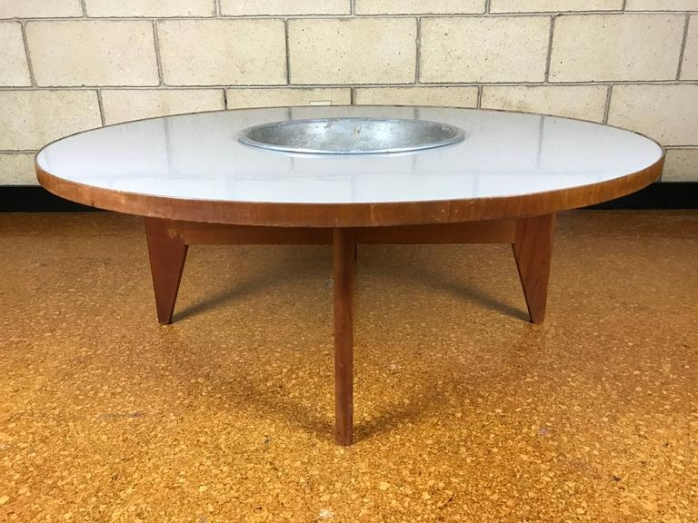 Fantastic Brand New Nelson Coffee Tables Regarding Rare Early Transitional George Nelson Round Coffee Table With (Image 13 of 50)