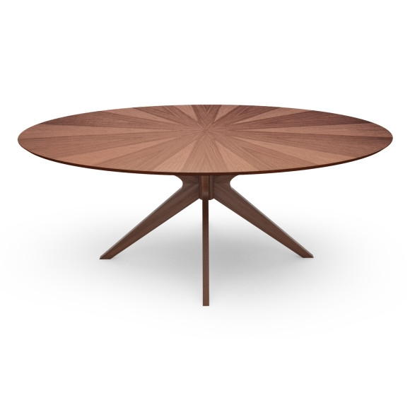 Fantastic Brand New Oval Walnut Coffee Tables Regarding Aeon Furniture Aeon Furniture Brockton Dining Table Oval (Image 15 of 50)