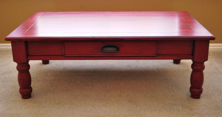 Fantastic Brand New Red Coffee Table For Popular Of Red Coffee Table Red Coffee Table Full Furnishings (Image 18 of 50)