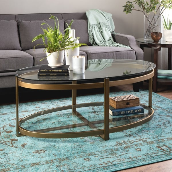 Fantastic Brand New Retro Glitz Glass Coffee Tables In Retro Glitz Glass Metal Coffee Table Free Shipping Today (Image 18 of 50)