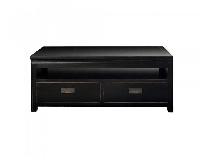 Fantastic Brand New Small Black TV Cabinets Throughout Orient Small Black Lacquer Tv Entertainment Unit With Storage Drawers (Image 19 of 50)