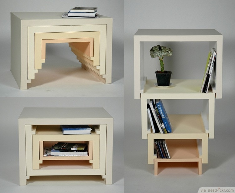 Fantastic Brand New Stackable Coffee Tables Throughout 30 Unique Coffee Tables Cool Design Ideas For Unusual Living (Image 11 of 50)
