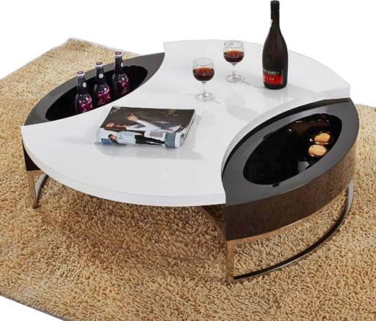 Fantastic Brand New White Circle Coffee Tables Within Round Coffee Table With Storage (Image 15 of 50)
