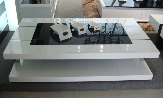 Fantastic Brand New White Gloss Coffee Tables With Large White Coffee Table (Image 19 of 50)