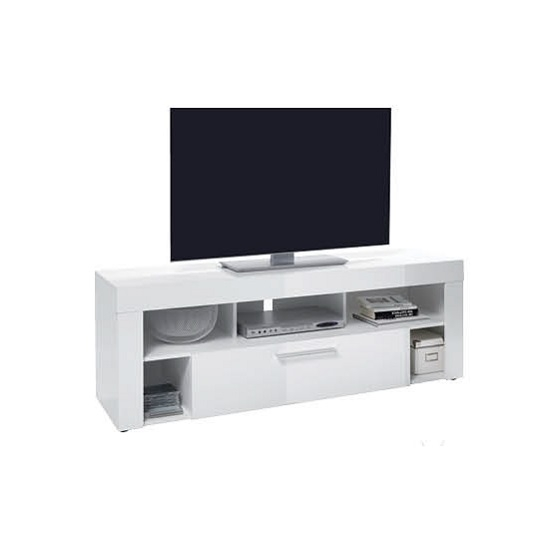 Fantastic Brand New White High Gloss TV Stands Inside Chapel Lcd Tv Stand In White Gloss With 2 Drawers  (Image 24 of 50)