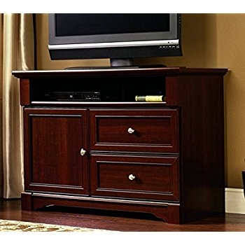 Fantastic Common Cherry TV Stands With Regard To Amazon Sauder Palladia Panel Tv Stand Select Cherry Finish (Image 16 of 50)