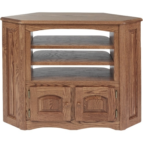 Fantastic Common Country Style TV Stands Within Solid Oak Country Style Corner Tv Stand 41 The Oak Furniture Shop (View 25 of 50)