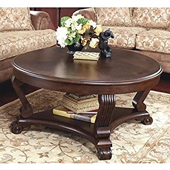 Fantastic Common Dark Brown Coffee Tables For Amazon Ashley Furniture Signature Design Brookfield Coffee (Image 17 of 50)
