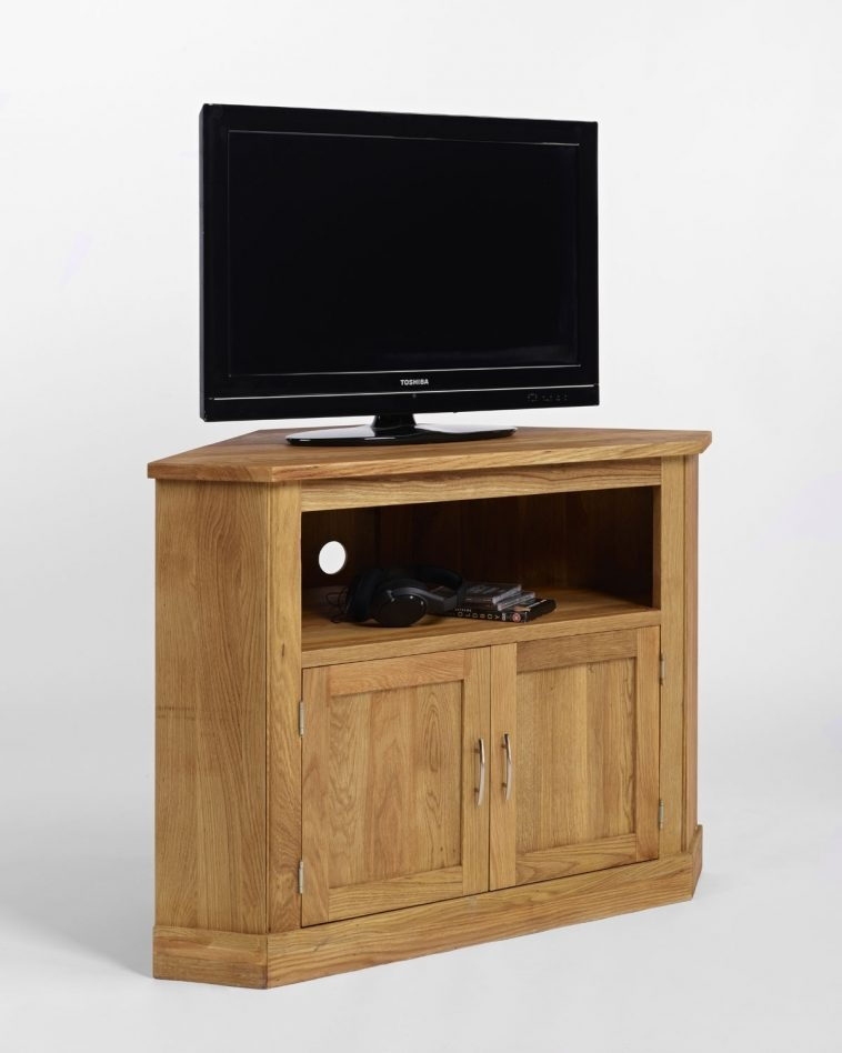 Fantastic Common Dark Wood Corner TV Cabinets Regarding Tv Cabinets With Glass Doors (Image 18 of 50)