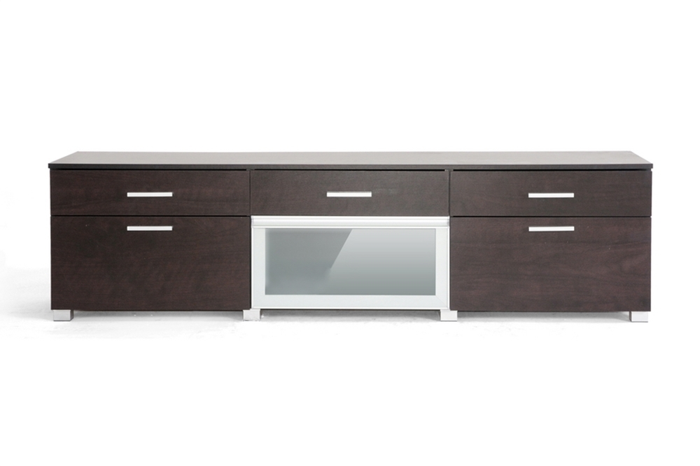 Fantastic Common Espresso TV Cabinets Within Baxton Studio Espresso Modern Tv Stand One Drawer Home Design Ideas (Image 17 of 50)