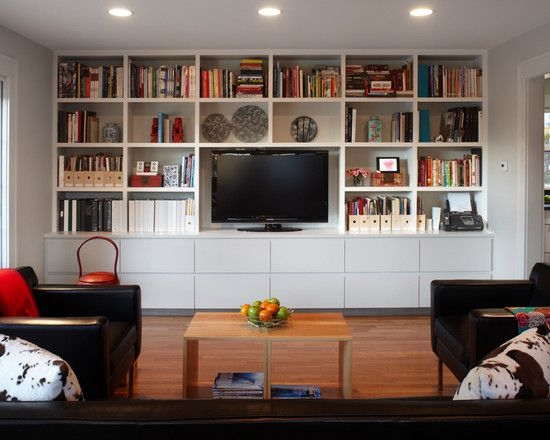 Fantastic Common Full Wall TV Cabinets Intended For Tv Stand With Bookshelves Idi Design (Image 16 of 50)