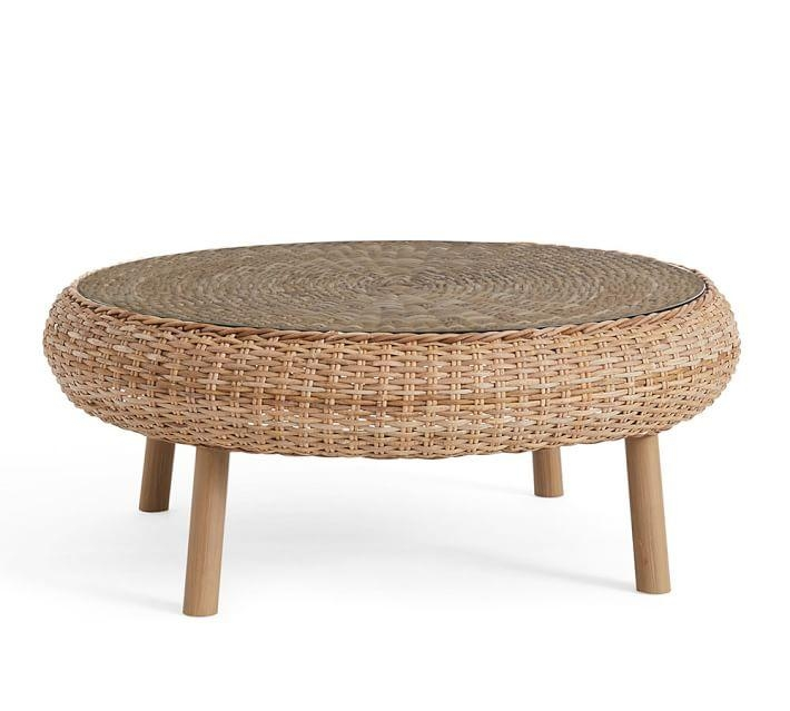 Fantastic Common Round Woven Coffee Tables Intended For Ana Woven Coffee Table (Image 26 of 50)