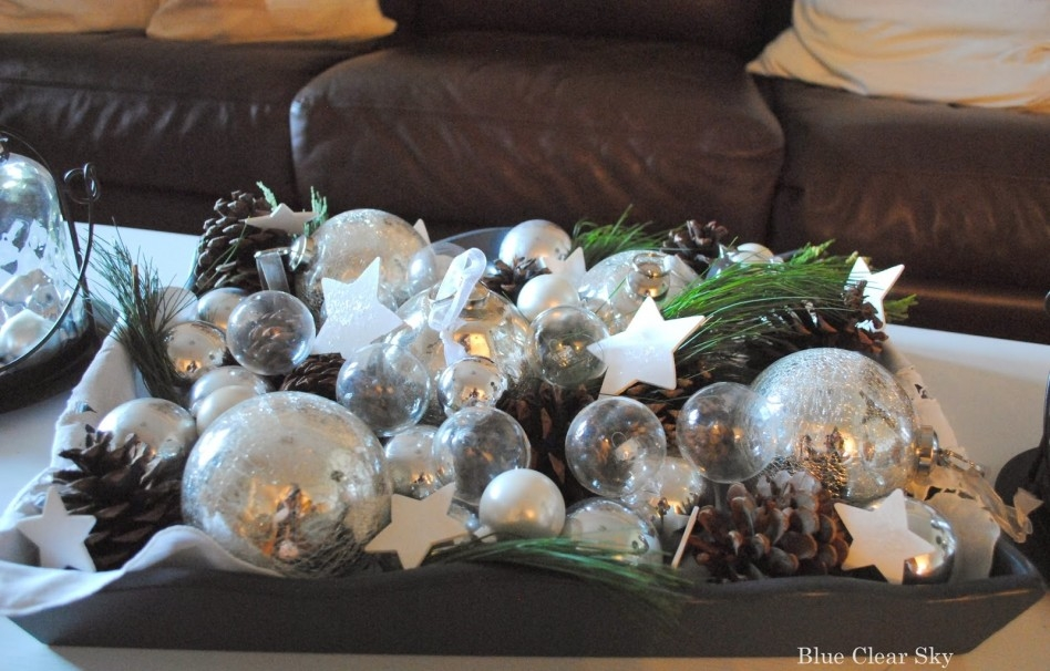 Fantastic Common Rustic Christmas Coffee Table Decors In Decorations Decorative Christmas Coffee Table Ideas Floral (Image 21 of 50)
