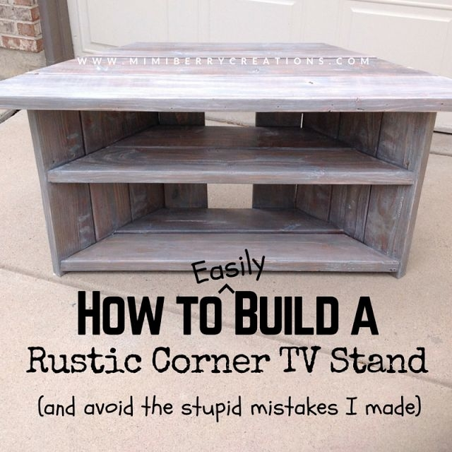 Fantastic Common Rustic Looking TV Stands Throughout Best 25 Wood Corner Tv Stand Ideas On Pinterest Corner Tv (Image 15 of 50)