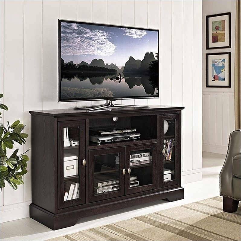 Fantastic Common Shiny Black TV Stands Pertaining To Tv Stands Interesting Highboy Tv Console Highboy Corner Tv Stand (Image 18 of 50)