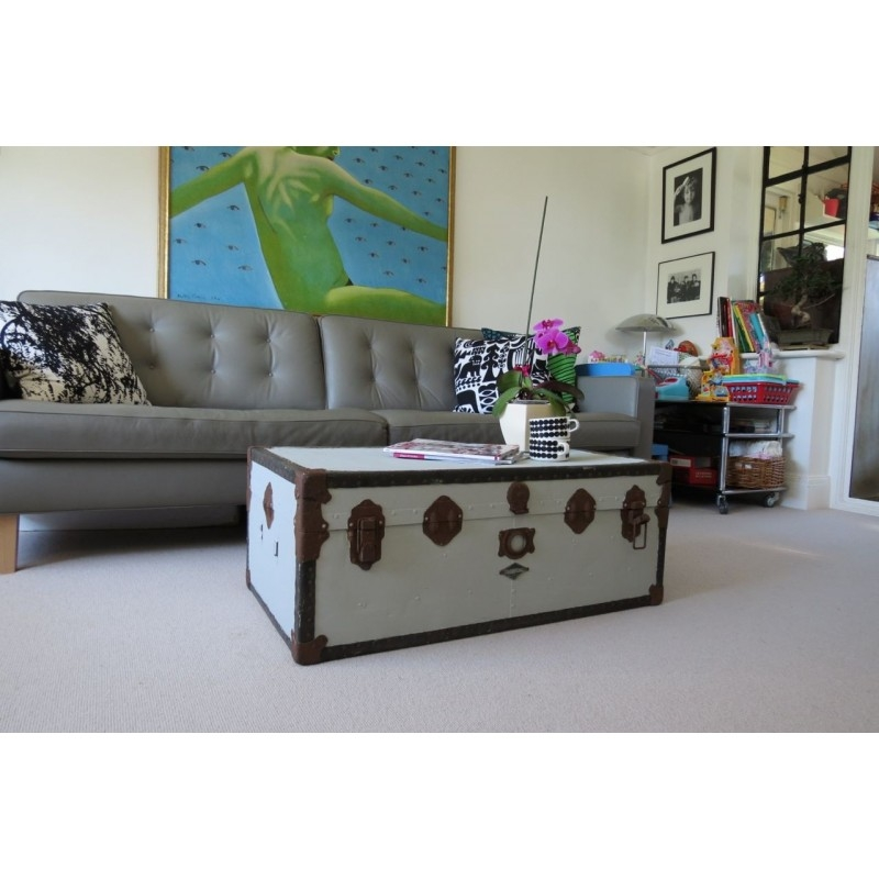 Fantastic Common Steamer Trunk Stainless Steel Coffee Tables Pertaining To Metal Steamer Trunk Coffee Table Axiomatica (View 48 of 50)