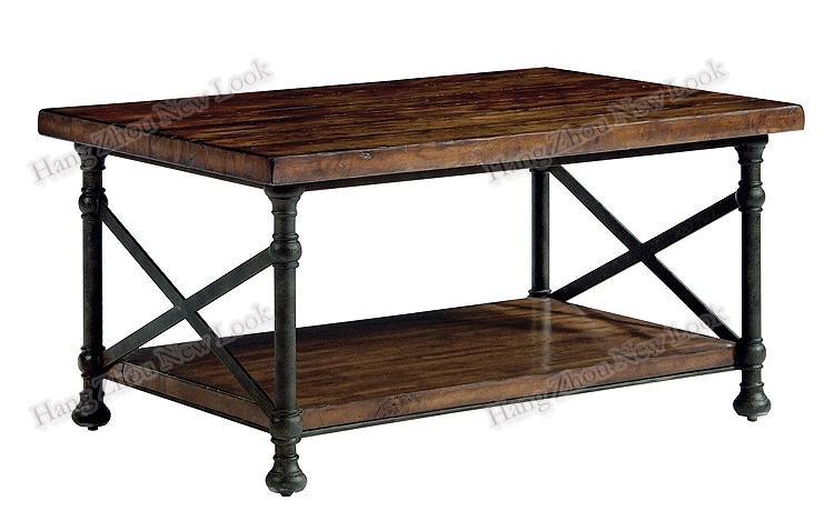 Fantastic Common Wrought Iron Coffee Tables Intended For Buy American Loft Do The Old Wrought Iron Wood Coffee Table Parlor (Image 17 of 50)