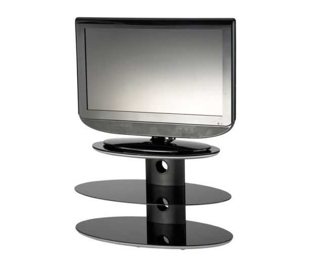 Fantastic Deluxe Black Oval TV Stands In Alphason Gradino Gra3 800 Black Oval Tv Stand Ebay (Image 16 of 50)