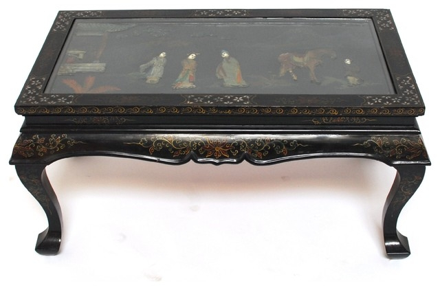 Fantastic Deluxe Chinese Coffee Tables Intended For Chinese Black Lacquer Folding Coffee Table (Image 17 of 50)