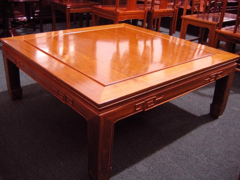 Fantastic Deluxe Chinese Coffee Tables With Regard To Solid Rosewood Furniture Square Coffee Table Chinese Style (View 27 of 50)