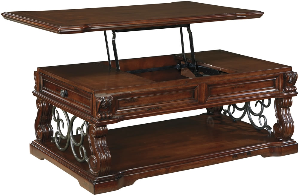 Fantastic Deluxe Coffee Tables With Raisable Top Throughout Coffee Tables Ideas Storage Lift Top On Coffee Tables That Raise (Image 16 of 50)