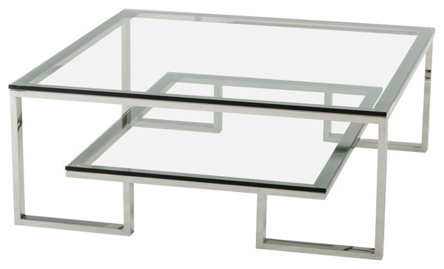 Fantastic Deluxe Contemporary Glass Coffee Tables  Within Modrest Topaz Modern Glass Coffee Table Modern Coffee Tables (Image 17 of 50)