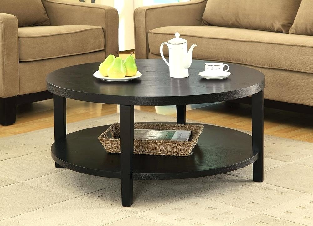 Fantastic Deluxe Cosmo Coffee Tables With Regard To Coffee Table Accent Table Round Traditional Espresso Wood Side (View 34 of 50)