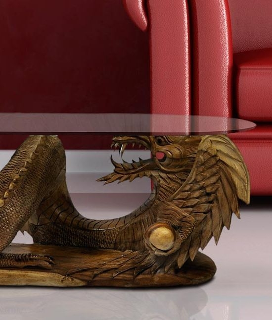 Fantastic Deluxe Dragon Coffee Tables Intended For Solid Wooden Large Dragon Coffee Table (Image 20 of 50)